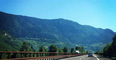 Die Brenner Autobahn A22 in Richtung Süden