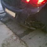 Auffahrunfall bei einem neuen Opel Astra