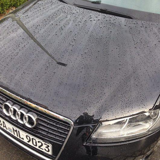 Audi A3 einige Wochen nach Auftragen des Quick Detaillers